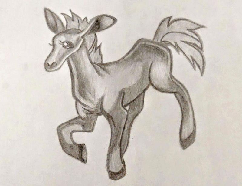 Лошадка - рисунок